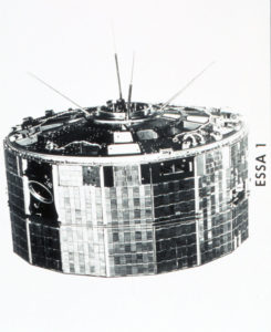 ESSA I, a TIROS cartwheel satellite launched on February 3, 1966